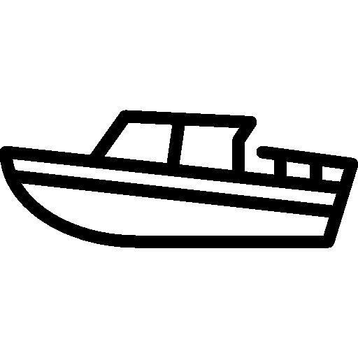 vektoriserad båt utrustad med stöldskydd i form av gps-puck